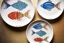 Üç tabak balık