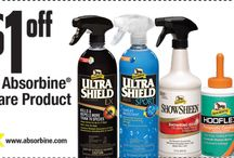 Absorbine Special Offers / Special offers on Absorbine products including ShowSheen, Hooflex, UltraShield, Absorbine Muscle Care and more!