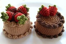 horgolt sütemények