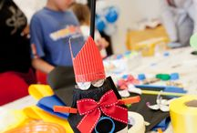 Laboratori creativi / Piccole opere d'arte e molte altre realizzazioni  frutto della creatività dei bambini durante i nostri eventi aziendali!