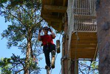Töissä Huipussa / Huippuelämyksen luominen vaatii ahkerointia niin maan kamaralla kuin yläimoissakin. Kuvat kertovat, mitä Seikkailupuisto Huipussa tehdään. Treetop Adventure Huippu behind the scenes. #seikkailupuisto #treetopAdventure #hochseilgarten #parcoursaventure #espoo #leppävaara