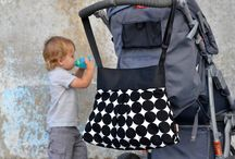 Nappy/Baby Bags / Made in New Zealand. Our nappy bags take you from newborn through toddler and beyond.  Gorgeous fabrics and colours.