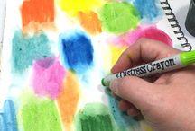 Distress Crayons / Ideas, inspiration and tutorials using Tim Holrz distress crayons
