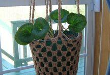 Crochet plant covers