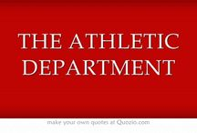 THE ATHLETIC DEPARTMENT