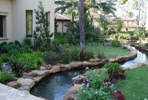 River for backyard