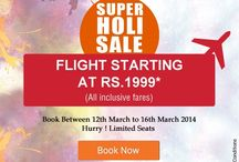 Flight Offer Deals / Watch out for the best domestic & international flight deals on the board.