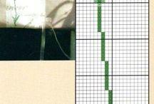 wzór krzyżykowy lawenda