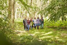 Beim Waldspaziergang! / Ein Spaziergang durch den Wald ist ein kleiner Ausflug aus dem Alltag, der der Seele gut tut. Einfach losgehen, die frische Luft atmen, das satte Grün spüren und wohlfühlen. Wir erfahren den Wald auch immer wieder als spannendes Ambiente für unsere Foto-Shootings. Sehen Sie modische Impressionen und lassen Sie sich beim Waldspaziergang zu neuen Outfits inspirieren.