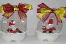 adornos de navidad con materiales reciclables / enseñar a usarlos