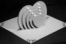 ajándék meghívó dekoráció - szív
