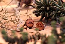 Manschettenknöpfe aus Holz - cuff button
