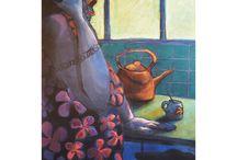 LAS CHUSMAS DE BARRIO by Magdalena Ares / painting · creation · art gallery · culture · exhibition · art · decoration · art collection
