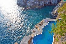 Villa Poseidon, luxury sea front villa with pool in Amalfi Coast, Italy