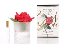 New Products Available on Our Website - Côte Noire Perfumed Natural Touch Roses / This beautiful life-like rose has been set in a gel infused with fine fragrance. Each flower is skilfully hand crafted & uses a special, natural coating to give every petal a natural touch & appearance. Enclosed with your natural touch rose is a bottle of oriental rose-scented perfume, which you can spray directly onto the rose to refresh & enhance the scent. Available at www.cotenoire.com.au.
