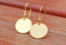 KOLCZYKI SREBRO 925 pokryte 24K złotem / biżuteria tworzona z pasją i miłością