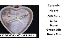 Gift Ideas / Ceramic Heart Gift Sets, Perfumes and Fragrances, Bath Sets, Gift Mugs and More!