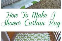 Showercurtain Rug - DIY