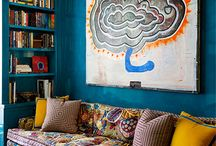 Libary-home decorating / Colours, inspiration...