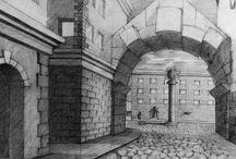 Architektura rysunek / Rysunki kandydatów na studia architektoniczne. Kurs rysunku ABSM