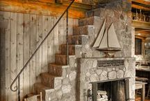 Stairs+Fireplace