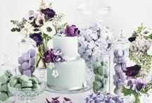 Wedding purple and Mint