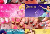 Nail art et frenche de disney princesses ♡♡♡