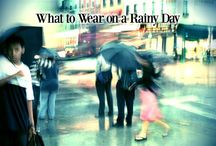 What to Wear on a Rainy Day / Is it a rainy day? There are so many things to consider: from what type of material you can wear (suede shoes are a no-go) to how to stay dry without sacrificing style - Dont' worry! -Massaboutique.eu give you some outfit ideas and advices for rainy days