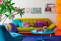 Minha casa brasileira / Interiores coloridos.