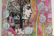 Lynn Perella stamps and art