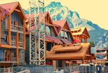 The Moose Hotel and Lodge / The Moose Hotel and Lodge in Banff, Canada featuring a Boral Roof