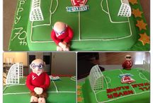 Liverpool themed 70th birthday cake / Chocolate mud cake