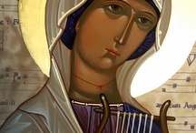 icons female saints / by Sally Nielsen