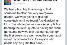 Reviews of Ayegardening / A collection of snapshots of our reviews on the web, including Google +, Facebook, Freeindex, Qype and Cylex