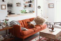 GRANNY'S orange couch
