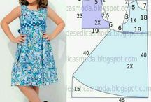 Girls pattern dress
