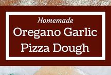 Organic garlic pizza