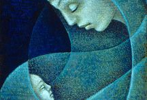 Mother & Child / Paintings of Mother & Child