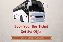 Bus ticket booking on online / Plan your trip with purebus.com and get 8% off for each ticket. http://www.purebus.com PROMO CODE:PUREBUS
