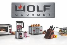 Wolf Gourmet / The Wolf Gourmet line of counter-top appliances. A top name full-size appliance maker's first step into the small appliance world. Superb quality and craftsmanship all the way around. View the entire Wolf Gourmet line in one of storefronts.