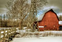 Barns, mills, covered bridges, farm houses