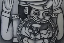 "Oototol (ca.1943 - 2012) / Most of Oototol's works are composed by ""generals"" or animals with a general's hat. In the first few years his works have the influences from Balinese traditional art imagery, inspired specially somehow to Ramayana stories."