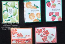fruit stand/fresh fruit cards