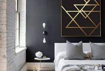 Gold n grey wall