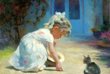 bimba con gattino Vladimir Volegov russo