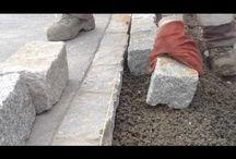 Granito akmenys betone