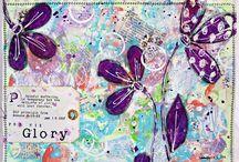 A,Mixed Media/Art Journaling,Gelli printing,Colagem/,Papier collé... / Trabalhos de arte visual com aplicação de várias tecnicas,art journal,mix-media,colagem etc...