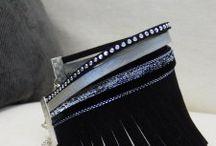 Bracelets multiliens 1 tour / Pièces uniques faites à la main, les bracelets Clair de Lune jouent sur des alliances subtiles de matières et de couleurs pour sublimer tous les poignets. Lacets plats en cuir de vachette d'origine européenne, cordons en tissu liberty, suédine, rubans organza, chaque bracelet est composé de 4 à 6 liens reliés par des fermoirs coloris argentés ou bronze garantis sans nickel.  / by Clair de Lune