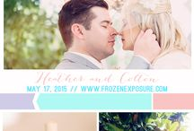 Stylish FE Couples / Our couples are pretty inspiring! Here are some of our fave color palettes and details of their perfect wedding day!