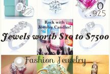 Jewelry Candle jewels! / Lovely jewels worth $10-$7500 in every Jewelry Candle!  From quality fashion jewelry to Tiffany & Co. Diamonds!  The candles are superior quality, all-natural soy candles.  Check them out today at JewelryCandles.com!  They are AWESOME!!!!!